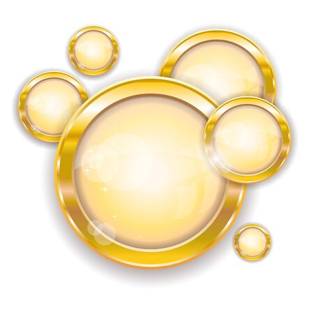 Gold circle frames, vector illustration, eps-10 Stock Vector - 9362461