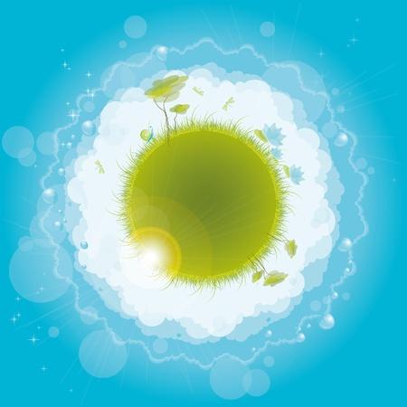 Round nature design, vector illustration, eps-10