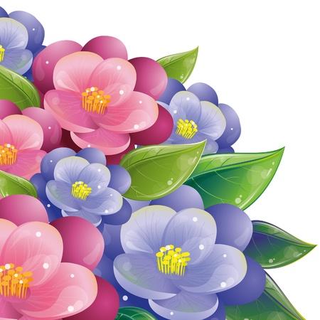 Floral design with violet, vector illustration, eps-10