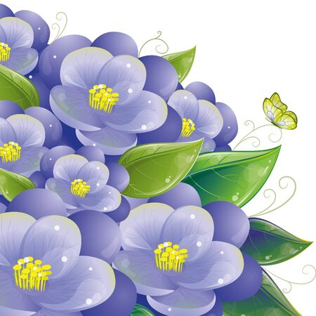 Floral design with violet, vector illustration, eps-10 Vector