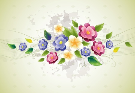 Floral design with violet, vector illustration, eps-10 Vector