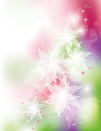 White flowers, vector illustration, contain gradient mesh, eps-10