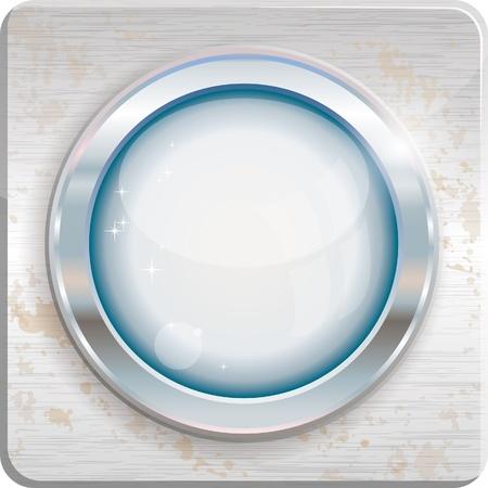 Silver circle frame, vector illustration Vector