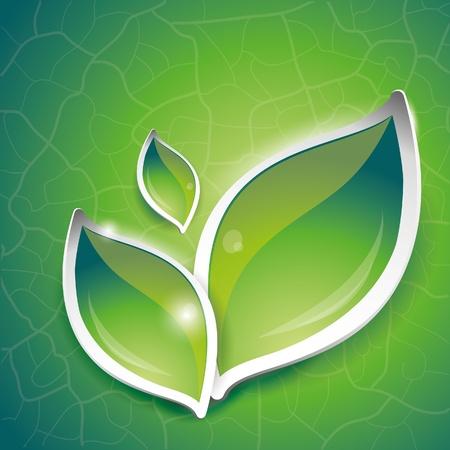 bladeren: Groene bladeren ontwerp, vector illustratie, eps-10