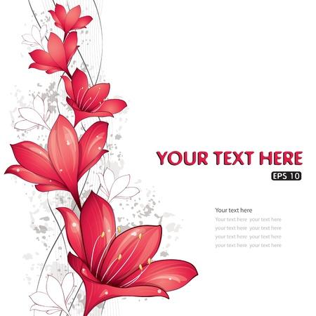 Red lelies ontwerp, vector illustration