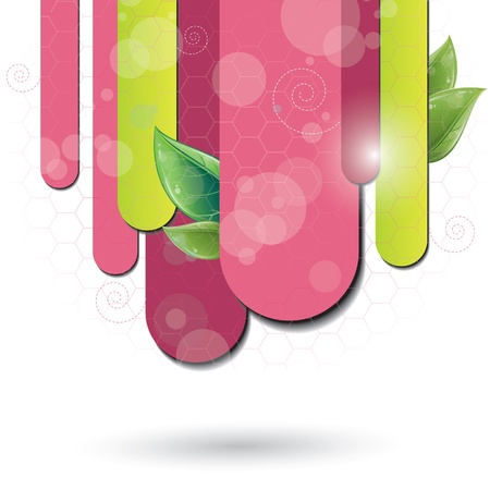 Fuchsia color background with leaf, vector illustration. eps-10 Vector