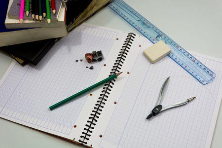 studious: Here are objects representing the start of school