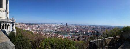 lyon: Panorama city of Lyon France