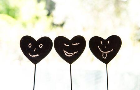 pinning: Heart Smiley Stock Photo
