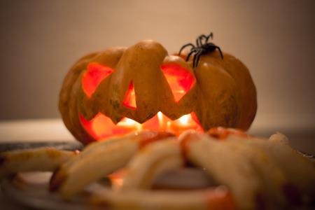 photo of a pumpkin for halloween theme 스톡 콘텐츠