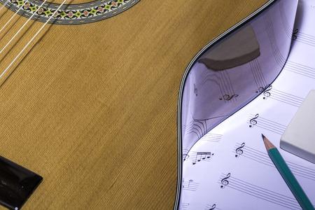 partition musique: guitare et musique partition