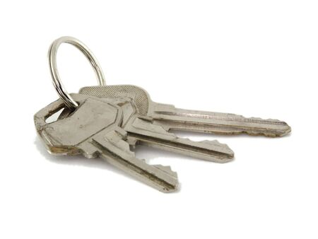 Close-up of keys isolated on a white background 版權商用圖片 - 3477136