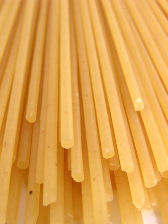 Close-up of dried pasta. photo