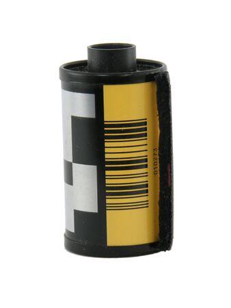 Film canister isolated on white Reklamní fotografie