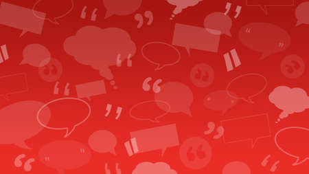 Speech and thought bubbles with quote marks suitable as a background illustration for client / customers testimonials or comments or quotes Stockfoto