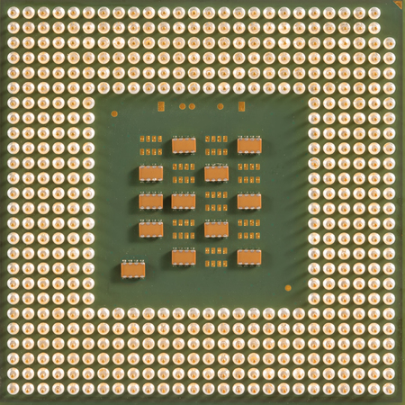 intel: Computer processor chip CPU for background