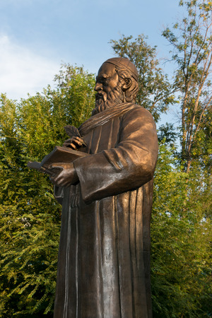 national poet: First monument to Persian philosopher and poet Omar Khayyam Nishapuri in Russia. Astrakhan.