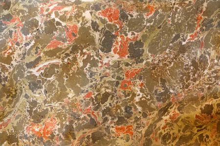 Abstrakter Marmoreffekt. Gemischte rote und grüne Farben. Ungewöhnlicher Hintergrund für Plakat, Karte, Einladung, Beschaffenheit.