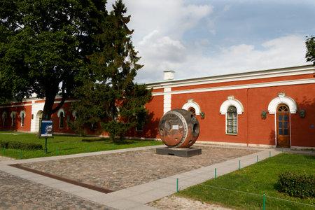 """ST PETERSBURG, RUSSLAND - 18. August 2017 - Landungsmodul des topographischen Satelliten """"Komet"""". Das Museum für Astronautik und Raketentechnik in St. Petersburg. Petersburg"""