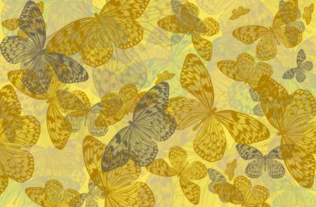 abstract art background of butterflies Idea leuconoe in yellow