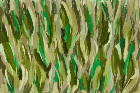 Abstract art color background  in shades of green . Hand-painted background. Gouache painting on paper Imagens