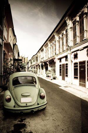 escarabajo: Escarabajos en ciudad  Foto de archivo