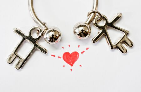 key chain man and woman in love photo