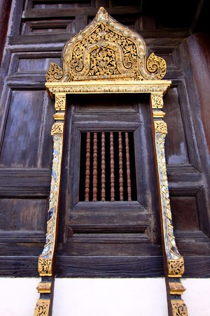 Thai wooden window