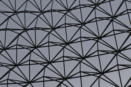 metall: Isolated image of the steel lattice of the metall wall Stock Photo