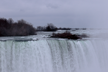 niagara river: Beautiful background with the Niagara Waterfall and the river