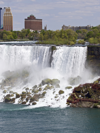 Beautiful photo of the amazing Niagara waterfall US side