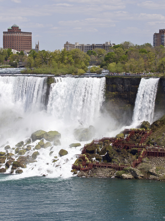 Beautiful photo of the amazing Niagara waterfall US side