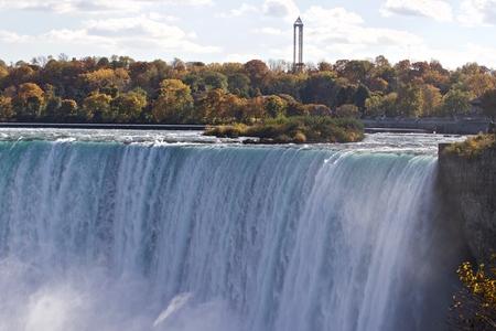 Beautiful background with amazing Niagara waterfall Stock Photo