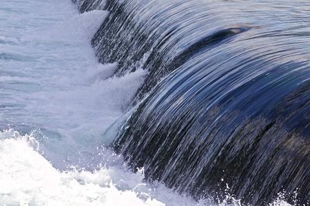 Beautiful photo of small waterfalls close to the amazing Niagara falls