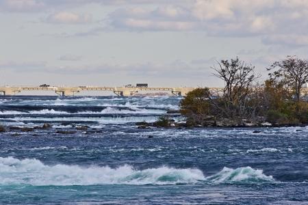 Beautiful background with amazing powerful Niagara river