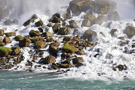 Beautiful background with amazing Niagara waterfall US side