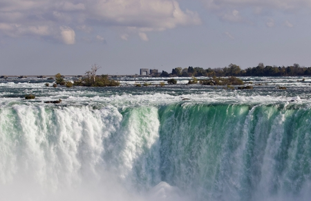 Postcard with an amazing Niagara waterfall