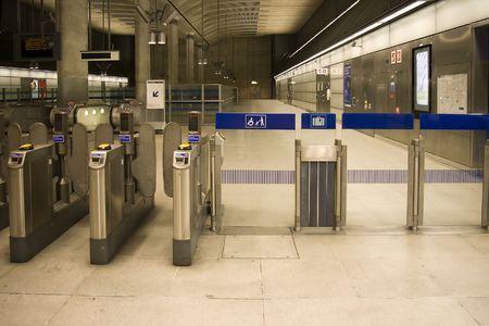 Gates in tube station