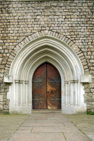 castello medievale: Cancello  Archivio Fotografico