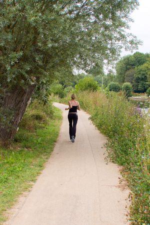 Runing girl photo