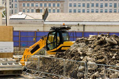 excavate: Excavator Stock Photo