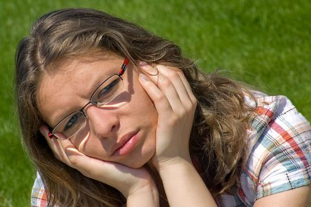 worrying girl Stock Photo - 3588574