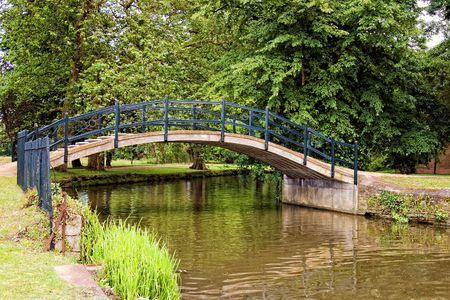 little bridge in park photo