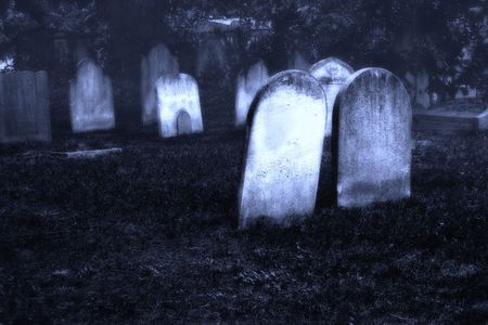 christian halloween: Cementary Stock Photo