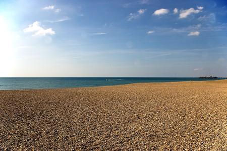 brightons beach Stock Photo