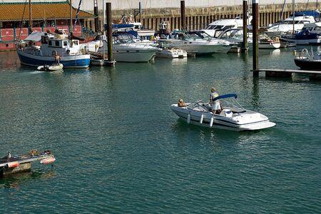 great bay: Port in brighton Stock Photo