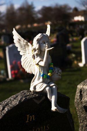 angel headstone: Angel Stock Photo