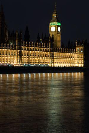 London by night photo