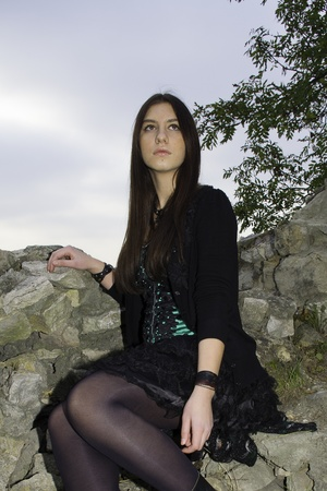 straight jacket: Gothic girl