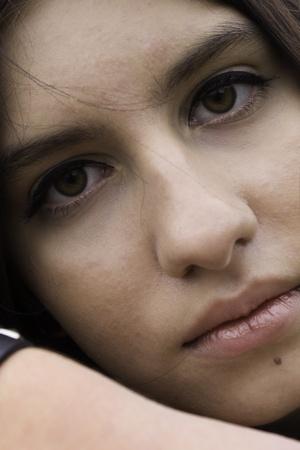 occhi tristi: Gotico ragazza Archivio Fotografico